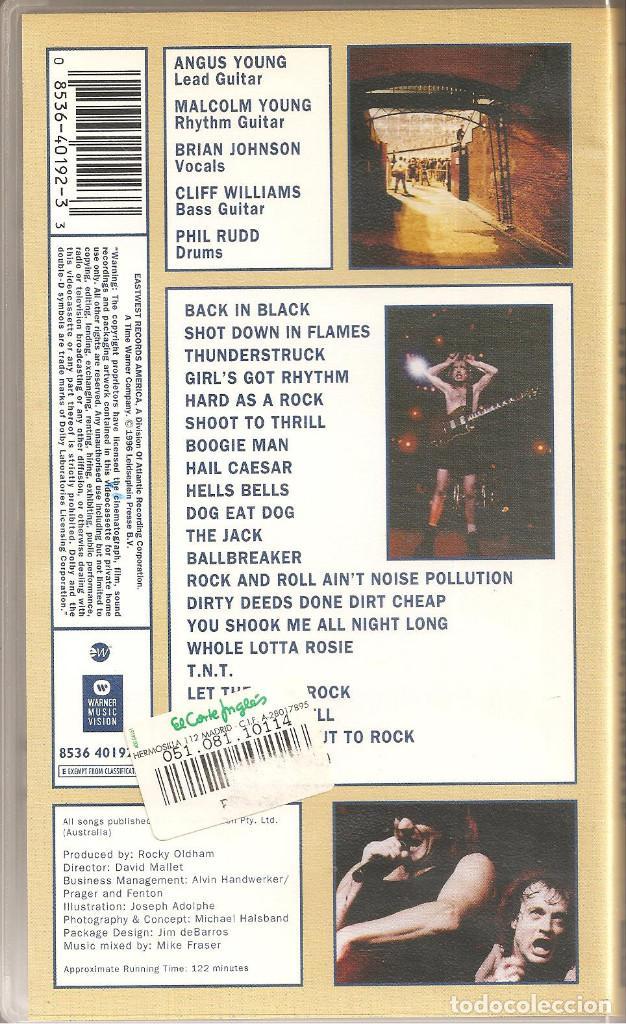 Vídeos y DVD Musicales: AC/DC - NO BULL - PLAZA DE TOROS DE LAS VENTAS, MADRID -1996 - Foto 2 - 195613283