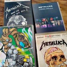 Vídeos y DVD Musicales: LOTE 4 VHS METALLICA VÍDEO ROCK METAL. Lote 195670112