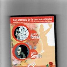Vídeos e DVD Musicais: COPLA JUANITA REINA- LOLITA SEVILLA -UNA ANTOLOGÍA DE LA CANCIÓN ESPAÑOLA, COMO NUEVO. Lote 258235155