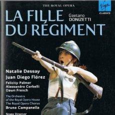 Vídeos y DVD Musicales: LA FILLE DU RÉGIMENT GAETANO DONIZETTI . Lote 196348977