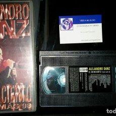 Vídeos y DVD Musicales: VHS ALEJANDRO SANZ EL CONCIERTO TOUR MAS VOLUMEN II 120' 1998. Lote 197489772
