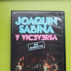 Vídeos y DVD Musicales: JOAQUÍN SABINA Y VICEVERSA - EN DIRECTO - 2003 - COMPRA MÍNIMA 3 EUROS. Lote 199377141