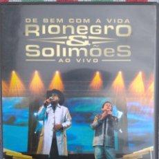 Vídeos y DVD Musicales: RIONEGRO & SOLIMOES - DE BEM COM A VIDA AO VIVO (UNIVERSAL MUSIC, 2004) // ED. BRASIL ORIGINAL, RARO. Lote 199503856