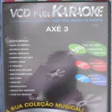 Vídeos y DVD Musicales: VCD PARA KARAOKE - AXÉ 3 (TECTOY) /// ED. BRASIL ORIGINAL, RARO /// SAMBA FORRÓ PAGODE BOSSA NOVA . Lote 199505878