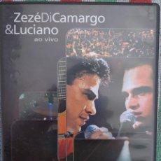 Vídeos y DVD Musicales: ZEZÉ DI CAMARGO & LUCIANO - AO VIVO (COLUMBIA) /// ED. BRASIL ORIGINAL, RARO /// SAMBA AXÉ FORRÓ . Lote 199506200