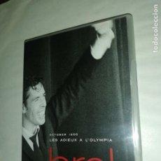 Vídeos y DVD Musicales: JAQUES BREL , OCTUBER 1969 LES ADIEUX A L' OLYMPIA. Lote 199553093