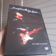 Vídeos y DVD Musicales: LOU REED IN CONCERT ( AT NIGHT WITH - LOU REED ). Lote 200832827