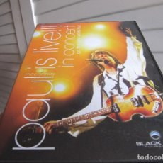 Vídeos y DVD Musicales: PAUL MCCARTNEY IS LIVE IN CONCERT NEW WORLD TOUR DVD VIDEO . Lote 200833100