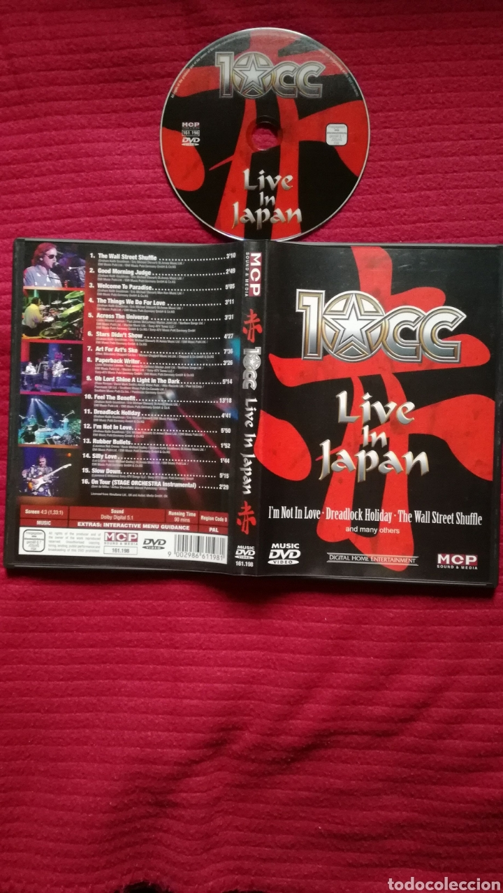 10CC: LIVE IN JAPAN. DVD. (Música - Videos y DVD Musicales)