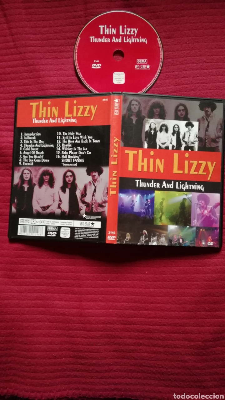 THIN LIZZY: THUNDER AND LIGHTNING, LIVE. DVD. (Música - Videos y DVD Musicales)