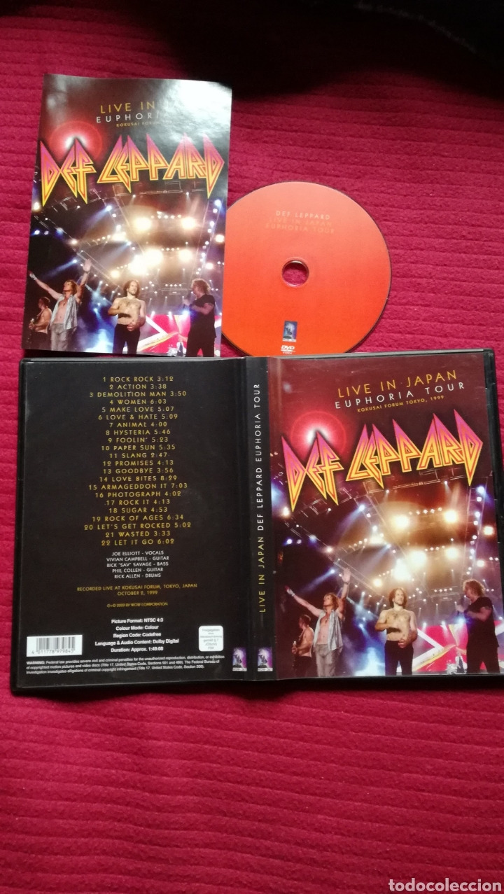DEF LEPPARD: LIVE IN JAPAN. EUPHORIA TOUR, TOKYO 1999.DVD. (Música - Videos y DVD Musicales)
