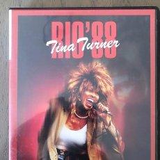 Vídeos y DVD Musicales: TINA TURNER DVD RIO ´88. LIVE IN CONCERT. RIO DE JANEIRO. PROMO DVD. Lote 202427556
