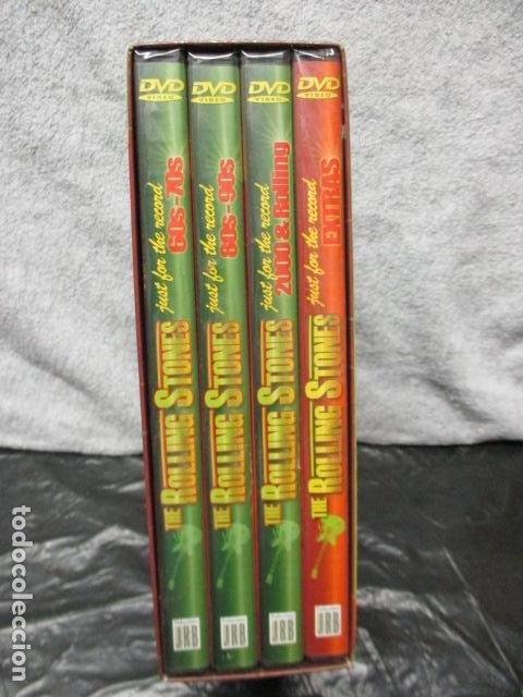 Vídeos y DVD Musicales: THE ROLLING STONES:(JUST FOR THE RECORD-5 DÉCADAS)-(4 DVD PACK-420 MINUTOS) PRECINTADOS - Foto 2 - 202858576