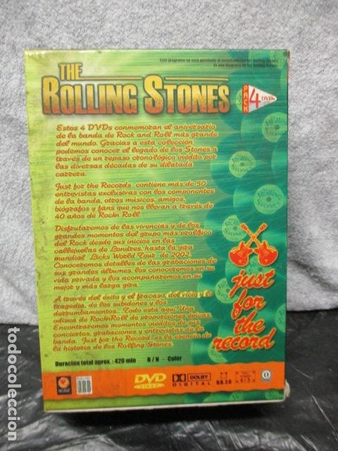 Vídeos y DVD Musicales: THE ROLLING STONES:(JUST FOR THE RECORD-5 DÉCADAS)-(4 DVD PACK-420 MINUTOS) PRECINTADOS - Foto 3 - 202858576