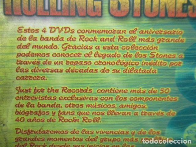 Vídeos y DVD Musicales: THE ROLLING STONES:(JUST FOR THE RECORD-5 DÉCADAS)-(4 DVD PACK-420 MINUTOS) PRECINTADOS - Foto 4 - 202858576