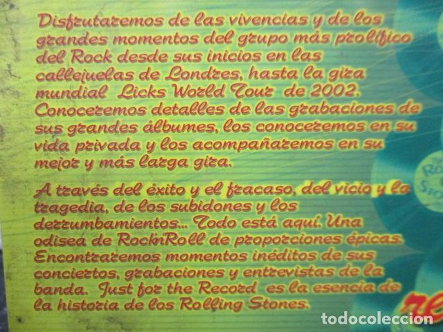 Vídeos y DVD Musicales: THE ROLLING STONES:(JUST FOR THE RECORD-5 DÉCADAS)-(4 DVD PACK-420 MINUTOS) PRECINTADOS - Foto 5 - 202858576