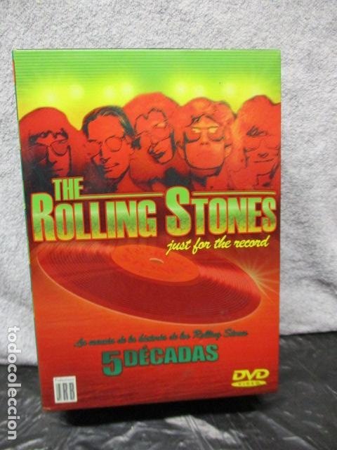 THE ROLLING STONES:(JUST FOR THE RECORD-5 DÉCADAS)-(4 DVD PACK-420 MINUTOS) PRECINTADOS (Música - Videos y DVD Musicales)