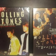 Vídeos y DVD Musicales: 2 DVD THE ROLLING STONES : TERRIFYING (ATLANTIC CITY CONCERT) + LIVE ARGENTINA 2006. Lote 204154277