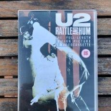 Vídeos y DVD Musicales: U2, CINTA VHS - RATTLE AND HUM -. PARAMOUNT AÑO 1988. FABRICADO EN REINO UNIDO. VER FOTOS.. Lote 205668306
