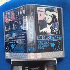 Vídeos y DVD Musicales: BEATLES PAUL MCCARTNEY PELICULA VHS ORIGINAL AÑOS 80 RECUERDOS A BROAD STREET. Lote 206236147