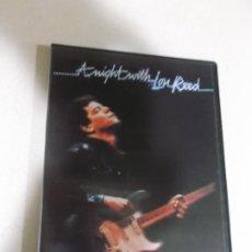Vídeos y DVD Musicales: LOU REED ,A NIGHT WITH, IN CONCERT,, 1983, EDICION 2000. Lote 206391800