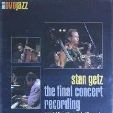 Vídeos y DVD Musicales: STAN GETZ - THE FINAL CONCERT RECORDING. Lote 207136521
