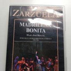 Vídeos y DVD Musicales: MADRILEÑA BONITA (MARÍA JOSÉ MONTIEL) HOMENAJE A LA MUJER MADRILEÑA EN LA ZARZUELA (1856 - 1956) DVD. Lote 207715800