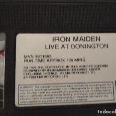 Vídeos y DVD Musicales: IRON MAIDEN/DONINGTON LIVE 1992.. Lote 207724987