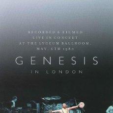 Vídeos e DVD Musicais: GENESIS - IN LONDON (PRECINTADO) DVD. Lote 207800772