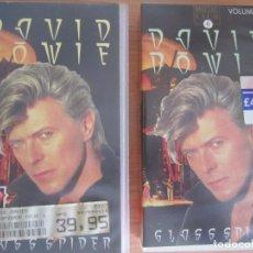 Vídeos y DVD Musicales: LOTE 2 VHS DAVID BOWIE GLASS SPIDER LIVE VOL 1 Y VOL 2. Lote 208118932