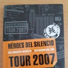 Vídeos e DVD Musicais: DOBLE DVD HÉROES DEL SILENCIO TOUR 2007. Lote 208216846