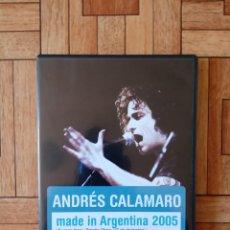 Vídeos y DVD Musicales: ANDRÉS CALAMARO - MADE IN ARGENTINA 2005 - DVD + CD. Lote 208939485