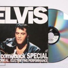 Vídeos y DVD Musicales: CONCIERTO LASERDISC - ELVIS. '68 COMEBACK SPECIAL. A HISTORICAL. ELECTRIFYING PERFORMANCE - AÑO 1991. Lote 210297607