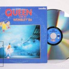 Vídeos y DVD Musicales: CONCIERTO LASERDISC - QUEEN LIVE AT WEMBLEY '86 - PIONEER LDCE LTD, 1997. Lote 210298298