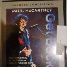 Vídeos y DVD Musicales: PAUL MCARTNEY. GET BACK. DVD. Lote 210343610