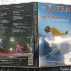 Vídeos y DVD Musicales: QUEEN LIVE AT WEMBLEY STADIUM 25TH ANNIVERSARY EDITION DOBLE DVD. Lote 211768095