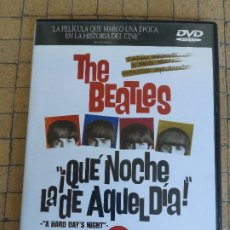 Vídeos y DVD Musicales: QUÉ NOCHE LA DE AQUEL DÍA DVD (2.DVD)- THE BEATLES EN UNA LOCA CARRERA DE MÚSICA Y FANS. YÉEE...YÉÉÉ. Lote 212119247