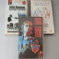 Vídeos y DVD Musicales: LOTE 3 VHS JOHN LENNON EX- THE BEATLES - IMAGINE THE FILM Y LIVE IN NEW YORK CITY. Lote 212135538