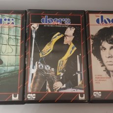 Vídeos y DVD Musicales: LOTE 3 VHS THE DOORS - THE SOLF PARADE A RETROSPECTIVE, HOLLYWOOD BOWL, DANCE ON FIRE. Lote 212135561