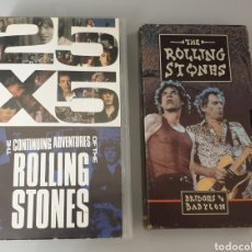 Vídeos y DVD Musicales: LOTE 2 VHS ROLLING STONES - 25X5 THE CONTINUING ADVENTURES OF ROLLING STONES Y BRIDGES TO BABYLON. Lote 212135725