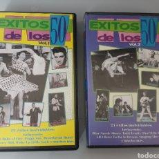 Vídeos y DVD Musicales: LOTE 2 VHS EXITOS DE LOS 50 VOL.1 Y 2 - ROCK & ROLL, ROCKABILLY, DOO WOP. Lote 212135741