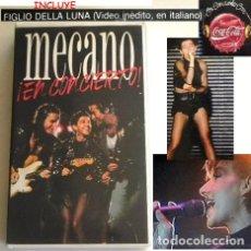 Vídeos y DVD Musicales: MECANO EN CONCIERTO VHS GRUPO ESPAÑOL DE MÚSICA POP ANA TORROJA CANO VÍDEO ÍDOLO - AÑOS 80 COCA COLA. Lote 212255347