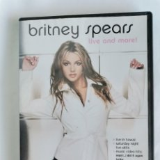 Vídeos y DVD Musicales: BRITNEY SPEARS LIVE AND MORE! DVD. Lote 212300476