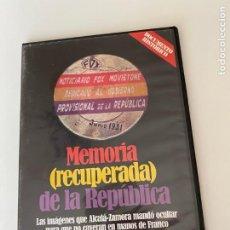 Vídeos y DVD Musicales: G-19 DVD VIDEO MEMORIA (RECUPERADA) DE LA REPUBLICA. Lote 212626226
