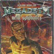 Vídeos y DVD Musicales: DVD MEGADETH-METAL SYMPHONIES.SHOWTIME-SHOW052-9.2011.SEALED.. Lote 212697257