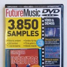 Vídeos y DVD Musicales: FUTURE MUSIC DVD NUEVO 3850 SAMPLES LOOPS FX PERCUSION PRODUCTOR HIP HOP ELECTRO DUB REGGAE [2005]. Lote 212842692