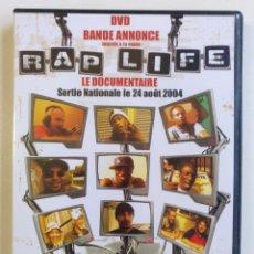 Vídeos y DVD Musicales: RAP LIFE LE DOCUMENTAIRE DVD COMPILATION HIP HOP FRANCIA RAP SPECIAL EDITION DVD [2004]. Lote 212843490