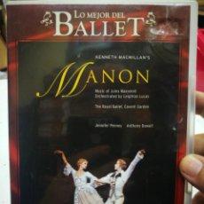Vidéos y DVD Musicaux: DVD LO MEJOR DEL BALLET MANON THE ROYAL BALLET COVEN GARDEN. Lote 213011795
