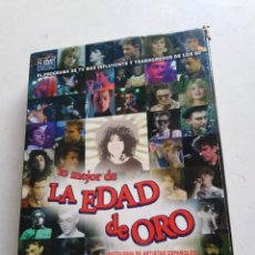 Vídeos y DVD Musicales: LO MEJOR DE LA EDAD DE ORO ( ANTOLOGÍA DE ARTISTAS ESPAÑOLES ) 4 DVD. Lote 213405448