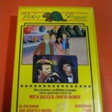 Vídeos y DVD Musicales: DAVID BOWIE & MICK JAGGER (QUEREMOS ROCK) VIDEO VHS. Lote 214206360
